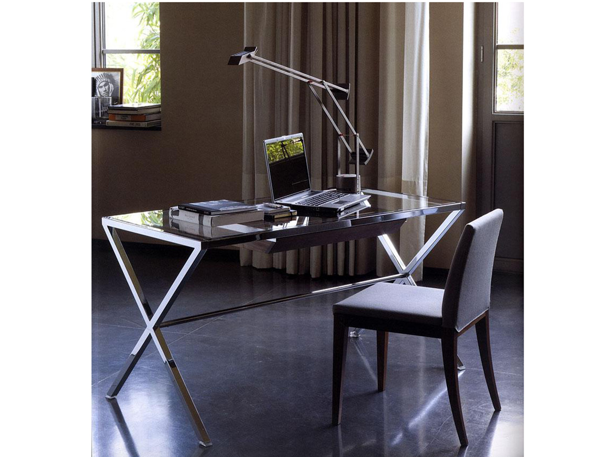 Фото 9 - Итальянская мебель Stylo фабрики Porada для мини-кабинета: рабочий письменный стол и стул
