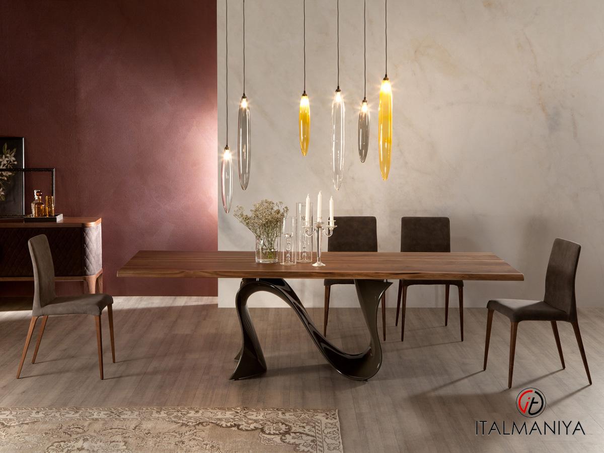 Фото 4 - Дизайнерский обеденный стол Wave Tonin Casa