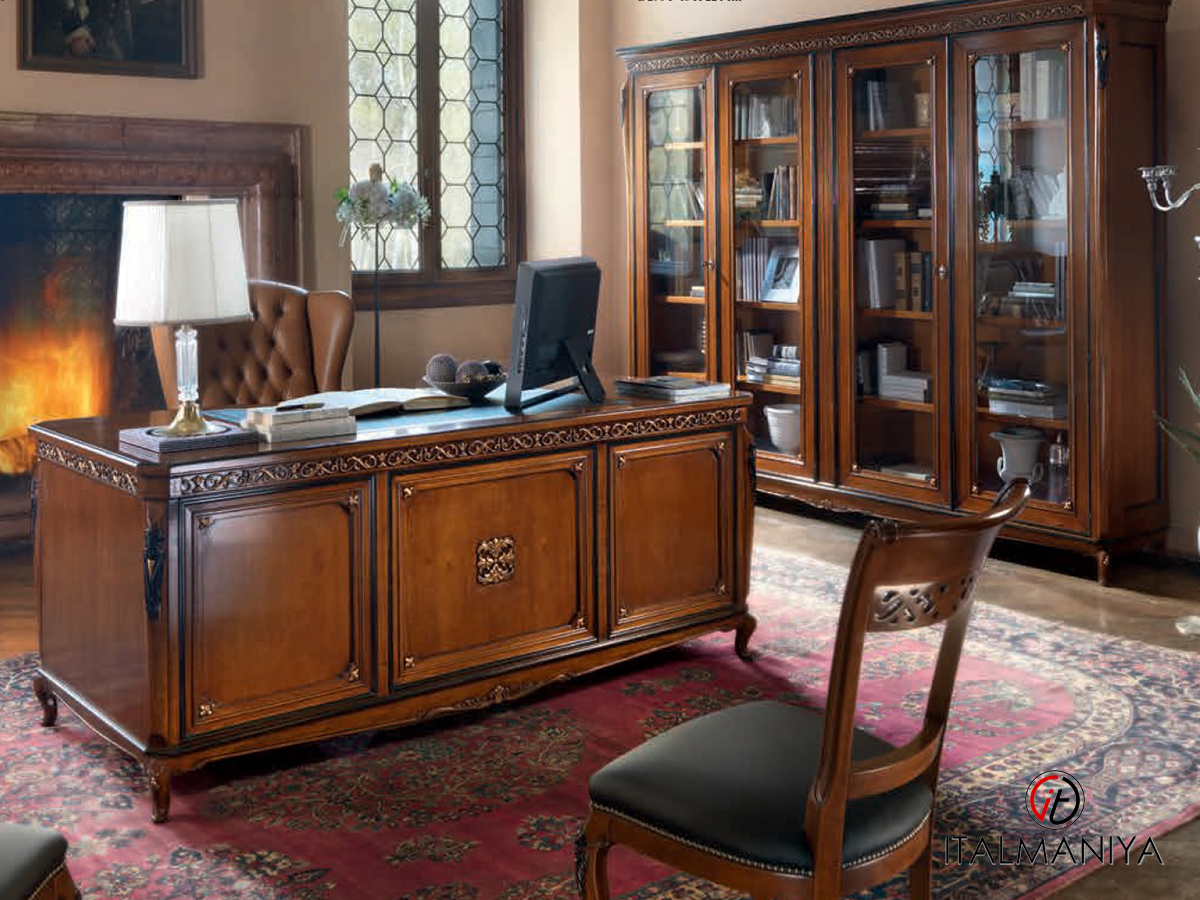 Фото 1 - Домашний кабинет с резным столом Bella Italia Vaccari Cav. Giovanni
