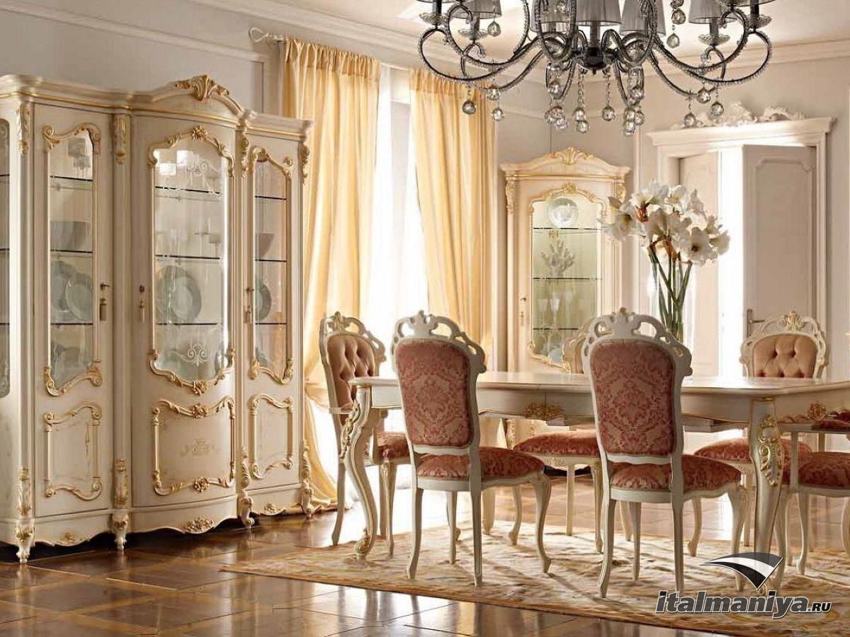 Фото 1 - Классическая гостиная Royal фабрики A&M Ghezzani в историческом стиле позднего барокко Италии