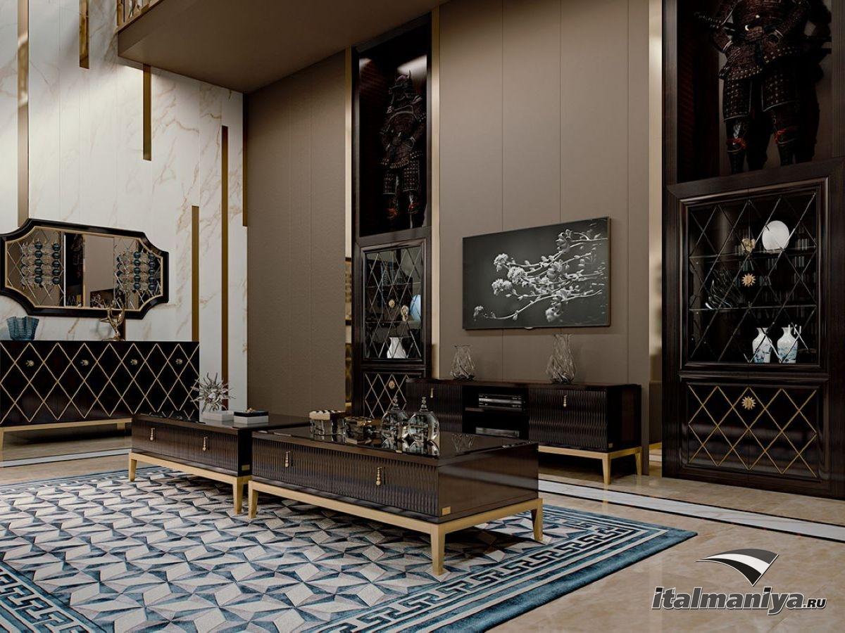 Фото 6 - Удивительное сочетание традиционной флорентийской роскоши и современного дизайна в гостиной Penthouse фабрики Cavio