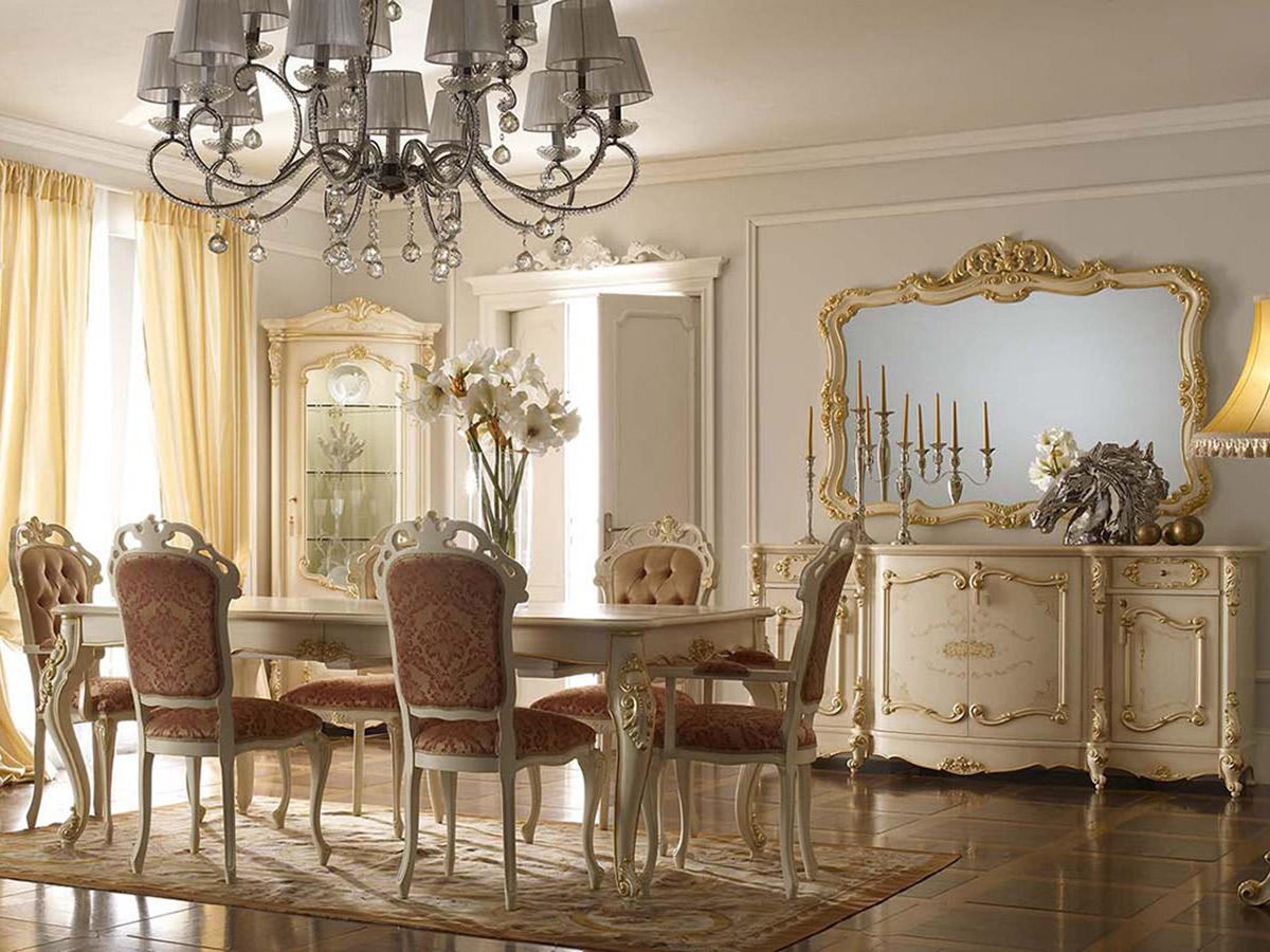 Фото 3 - Классическая итальянская гостиная Royal фабрики A&M Ghezzani цвета «слоновая кость» с резьбой и золотой патиной