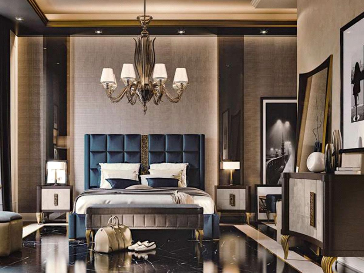 Фото 2 - Итальянская спальня Aura фабрики Valderamobili в стиле арт-деко