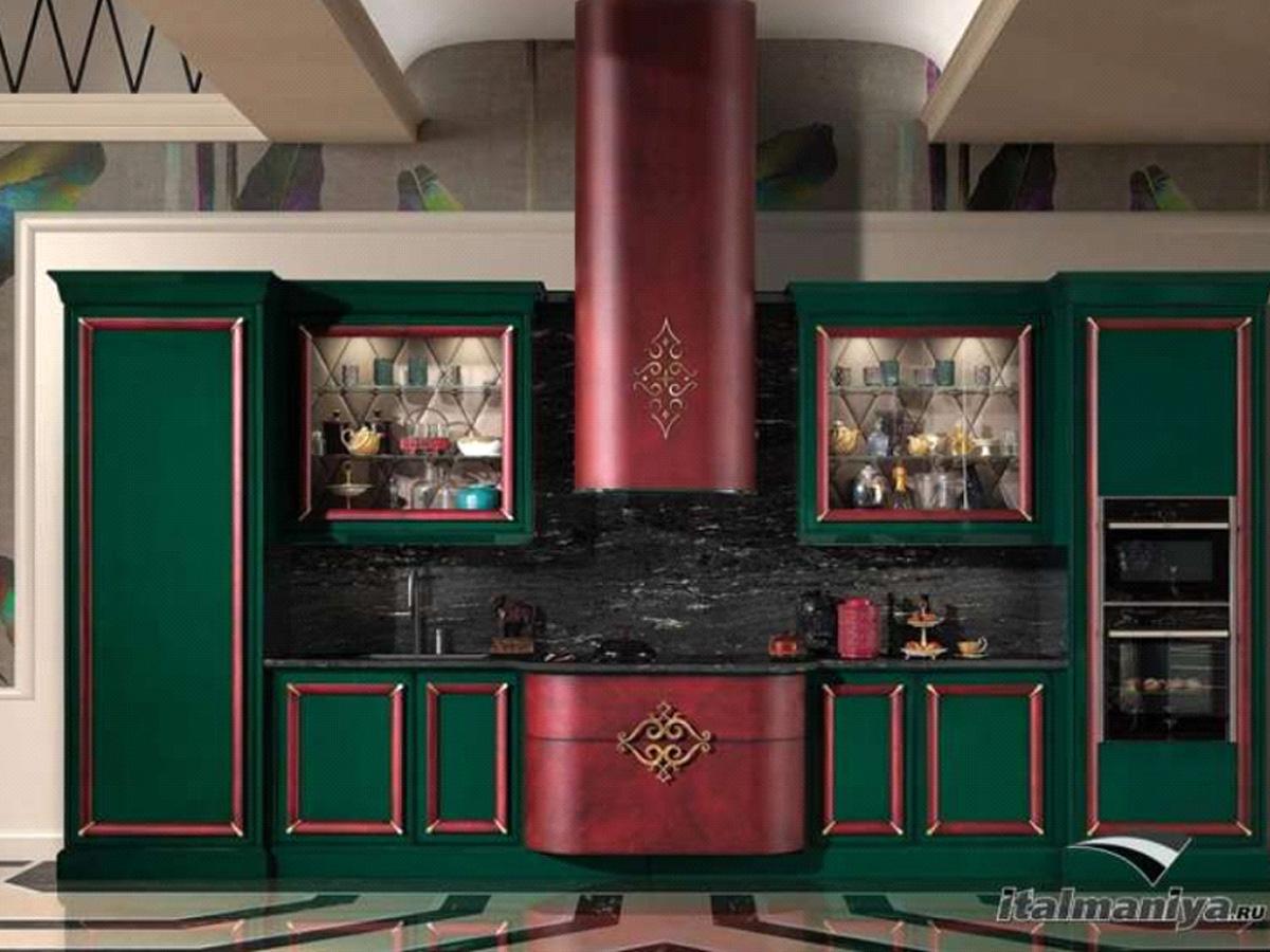 Фото 3 - Итальянская кухня Gran Duka фабрики Prestige из массива дерева в стиле арт-деко