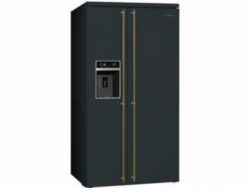 Отдельностоящий холодильник Side-by-Side SBS8004AO Smeg