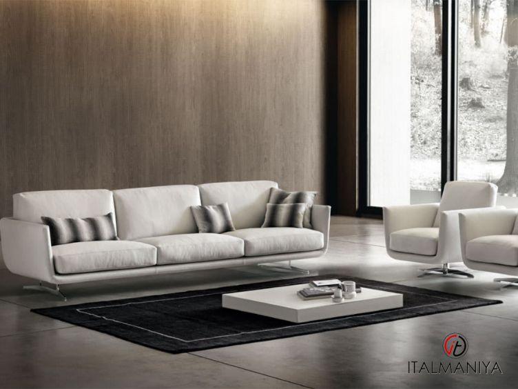 Фото 1 - Диван Slim фабрики Dema (производство Италия) в современном стиле из металла