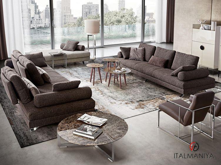Фото 1 - Диван Veliero фабрики Dema (производство Италия) в современном стиле из металла