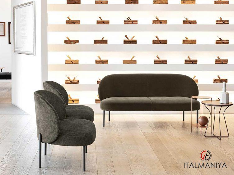 Фото 1 - Диван Raku фабрики Alf (производство Италия) в современном стиле из металла