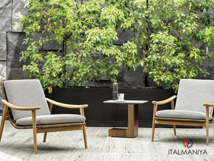 """Фото 1 - Кресло Fynn """"Outdoor"""" фабрики Minotti (производство Италия) в современном стиле из массива дерева"""