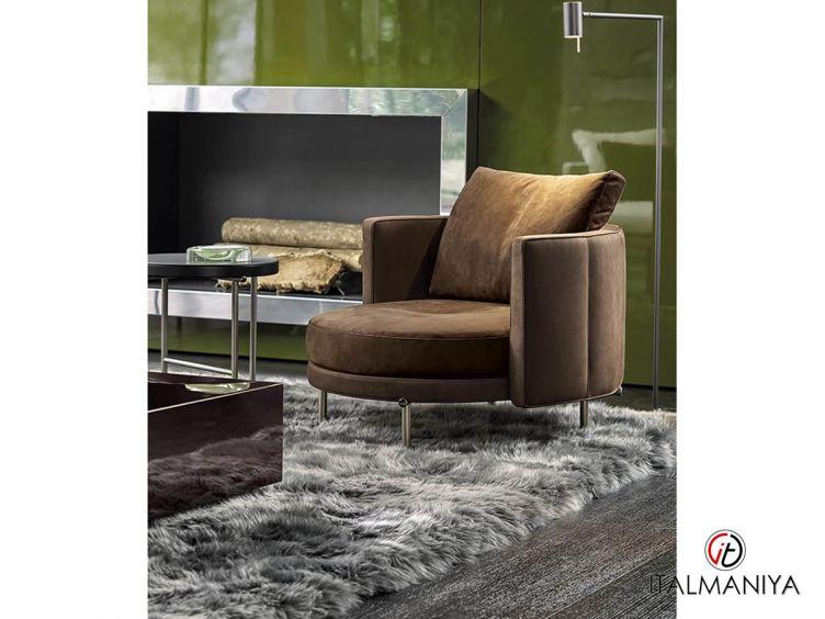 Фото 1 - Кресло Torii фабрики Minotti (производство Италия) в современном стиле из металла