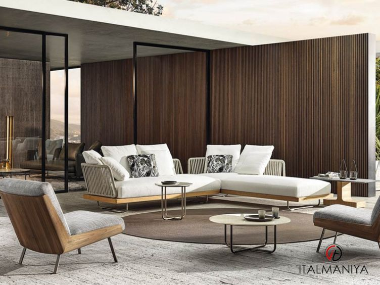 Фото 1 - Мягкая мебель Sunray фабрики Minotti (производство Италия) в современном стиле из металла