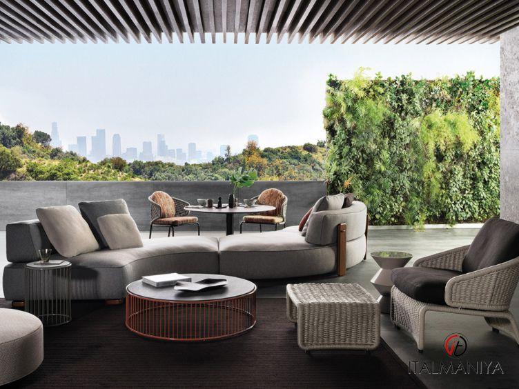 Фото 1 - Мягкая мебель Florida фабрики Minotti (производство Италия) в современном стиле из массива дерева