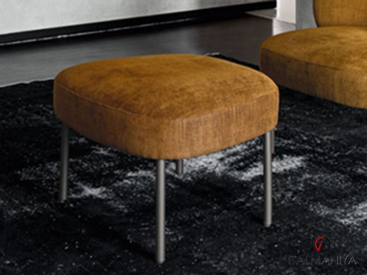 Фото 1 - Пуф Raku фабрики Alf (производство Италия) в современном стиле из металла