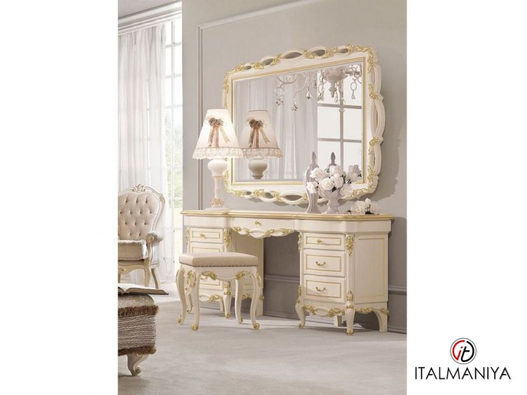 Фото 1 - Зеркало Signoria фабрики Antonelli Moravio (производство Италия) в классическом стиле из массива дерева цвета слоновой кости