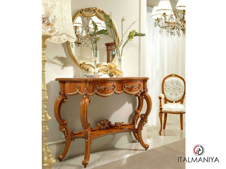 Фото 1 - Консоль Charme фабрики Antonelli Moravio (производство Италия) в классическом стиле из массива дерева коричневого цвета