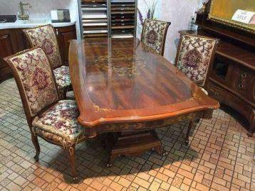 Гостиная (стол, 4 стула, тумба ТВ, панель, зеркало) Napoleone Antonelli Moravio
