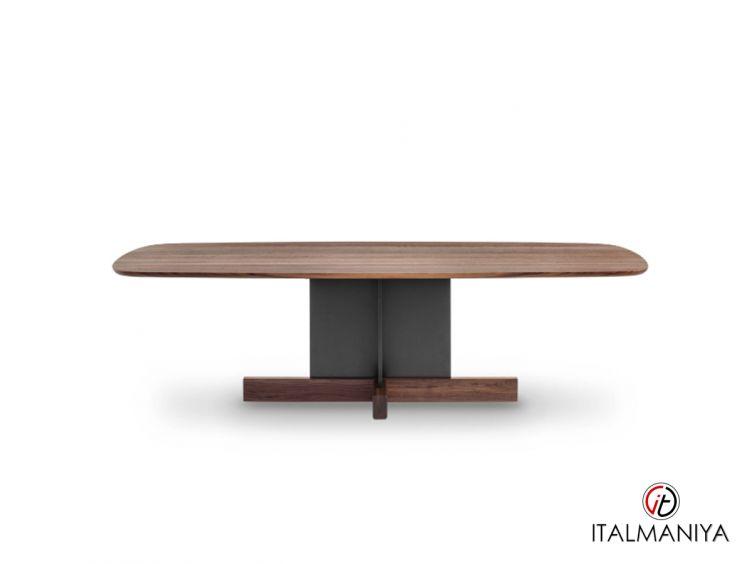 Фото 1 - Стол обеденный Cross Table фабрики Bonaldo (производство Италия) в современном стиле из массива дерева