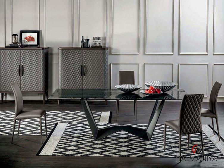 Фото 1 - Стол обеденный Reverse фабрики Tonin Casa (производство Италия) в современном стиле из металла