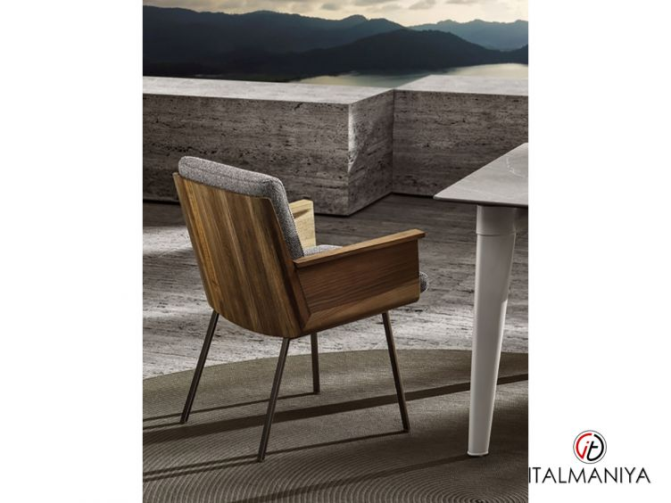 """Фото 1 - Стул Daiki """"Outdoor"""" фабрики Minotti (производство Италия) в современном стиле из массива дерева"""