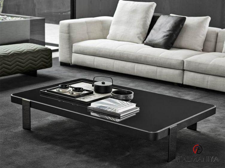 Фото 1 - Журнальный столик прямоугольный Mattia фабрики Minotti (производство Италия) в современном стиле из металла