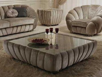 Журнальный столик квадратный Pearl Gold Confort