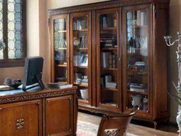 Библиотека со стеклянными дверями Bella Italia Vaccari Cav. Giovanni