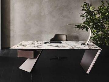 Стол письменный Nasdaq Keramik Cattelan Italia