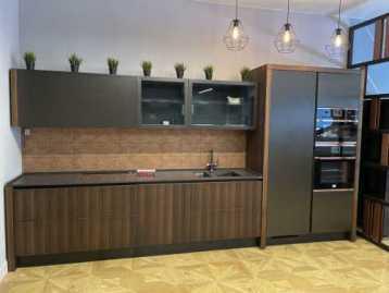 Кухня Металл / Шпон дуба Contempora Aster
