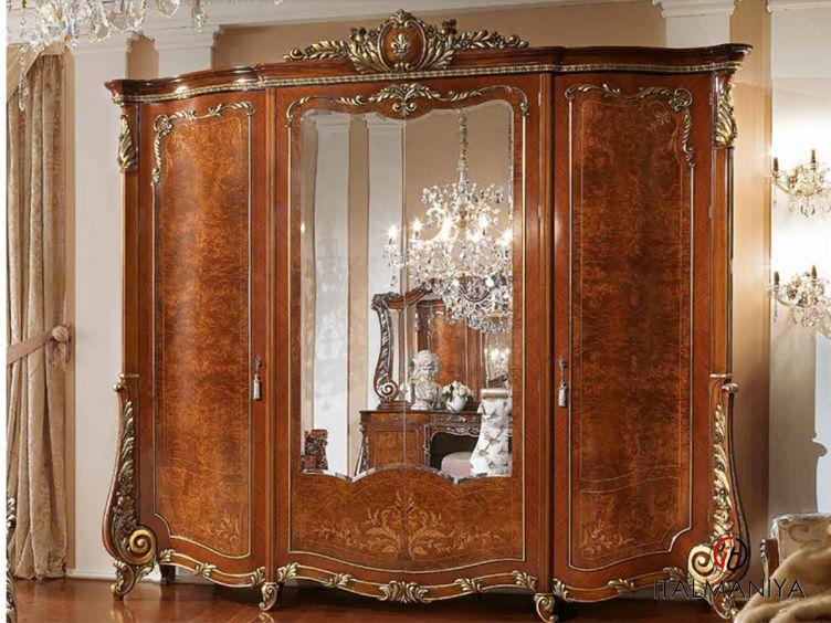 Фото 1 - Шкаф с зеркалами Firenze фабрики Barnini Oseo (производство Италия) в классическом стиле из массива дерева