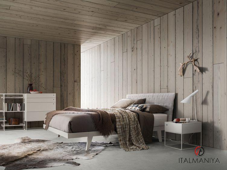 Фото 1 - Кровать Teo фабрики Alf (производство Италия) в современном стиле из массива дерева