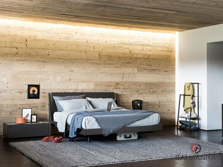 Фото 1 - Кровать Da-do фабрики Alf (производство Италия) в стиле лофт из массива дерева