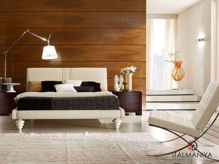 Фото 1 - Кровать Fashion time фабрики Barnini Oseo (производство Италия) в современном стиле из массива дерева