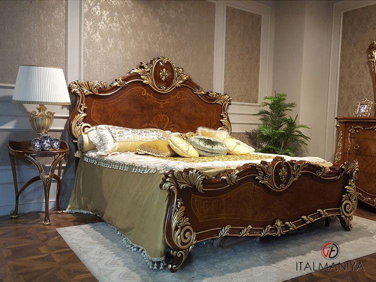 Фото 1 - Кровать с изножьем Firenze фабрики Barnini Oseo (производство Италия) в классическом стиле из массива дерева