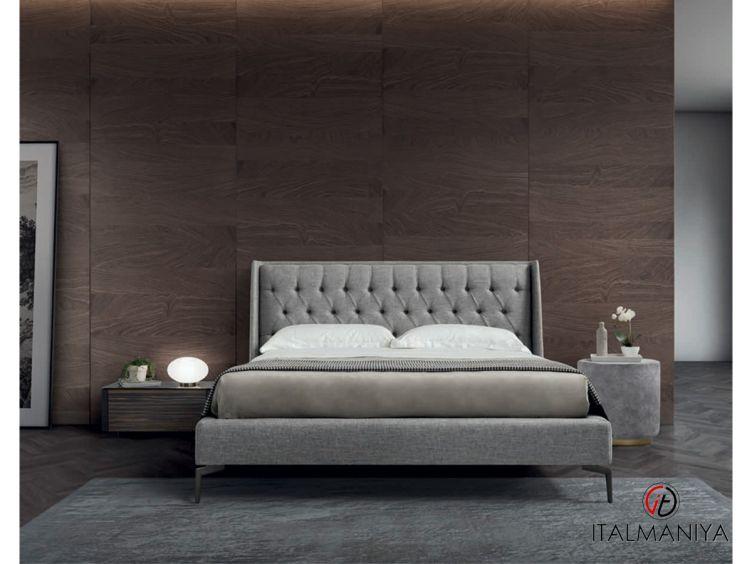 Фото 1 - Кровать Queen фабрики Conte (производство Италия) в современном стиле из массива дерева