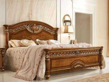 Кровать с деревянным изголовьем Luigi XVI Valderamobili