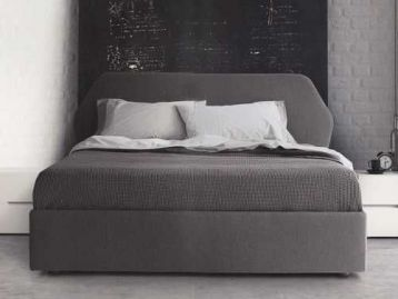 Кровать в ткани Trama Pianca