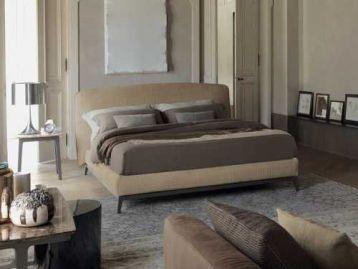 Кровать плетёная кожа Olivier Flou