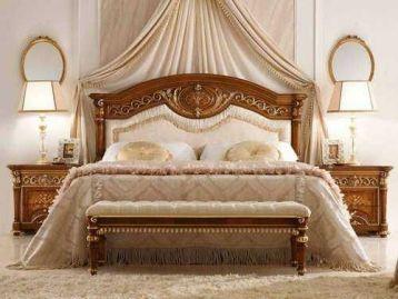 Кровать с мягким изголовьем Luigi XVI Valderamobili