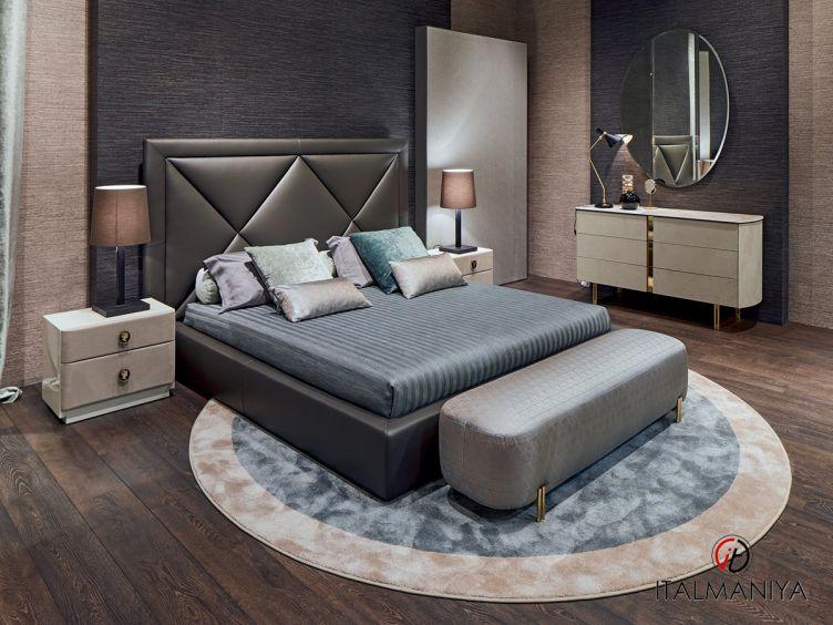 Фото 1 - Спальня Corniche фабрики Alberta (производство Италия) в классическом стиле из массива дерева