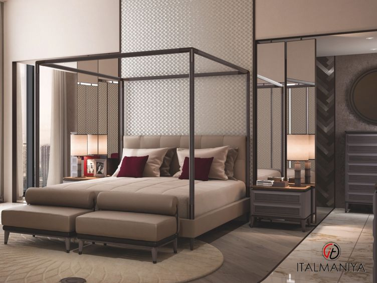 Фото 1 - Спальня Blue Moon фабрики Cipriani (производство Италия) в современном стиле из массива дерева