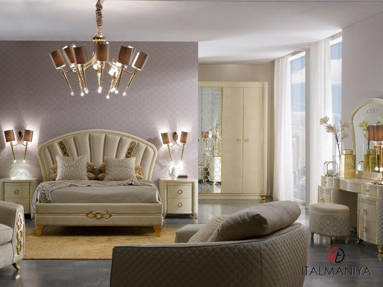Фото 1 - Спальня Babila Exclusive фабрики A&M Ghezzani (производство Италия) в стиле арт-деко из массива дерева цвета слоновой кости