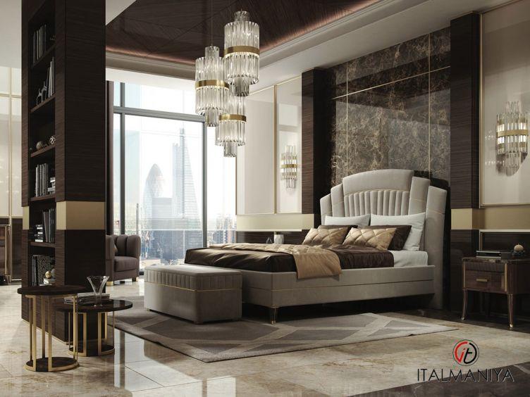 Фото 1 - Спальня Exclusive фабрики A&M Ghezzani (производство Италия) в стиле арт-деко из массива дерева