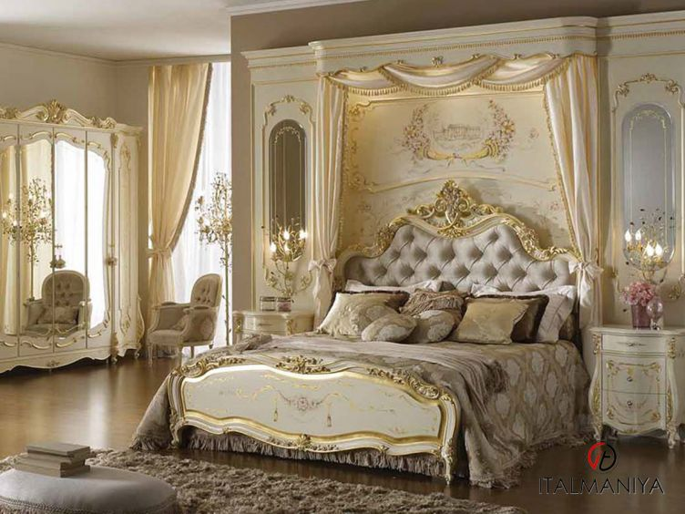 Фото 1 - Спальня Monnalisa фабрики A&M Ghezzani (производство Италия) в классическом стиле из массива дерева