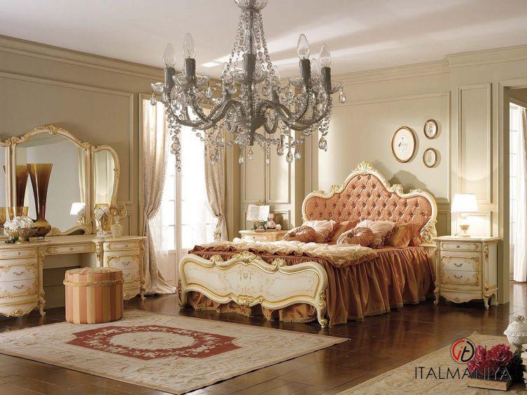 Фото 1 - Спальня Royal фабрики A&M Ghezzani (производство Италия) в классическом стиле из массива дерева