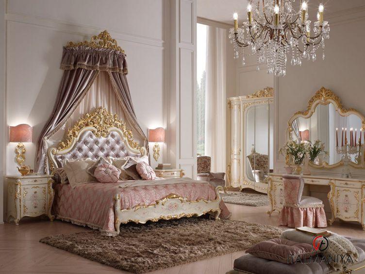 Фото 1 - Спальня Sophia фабрики A&M Ghezzani (производство Италия) в стиле барокко из массива дерева цвета слоновой кости
