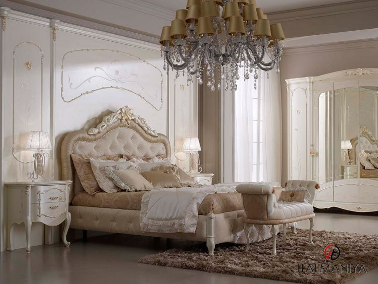 Фото 1 - Спальня Venere 100980 фабрики A&M Ghezzani (производство Италия) в классическом стиле из массива дерева