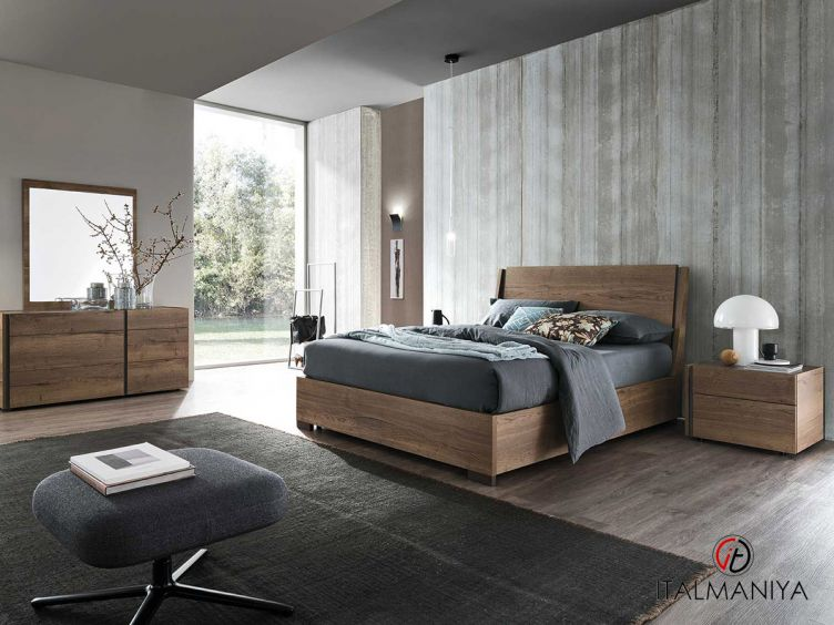 Фото 1 - Спальня DaDo-Dice quercia tabacco surfaced 100990 фабрики Alf (производство Италия) в современном стиле из МДФ