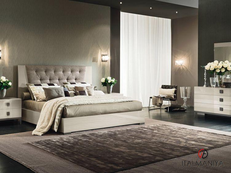 Фото 1 - Спальня Mont Blanc фабрики Alf (производство Италия) в современном стиле из МДФ