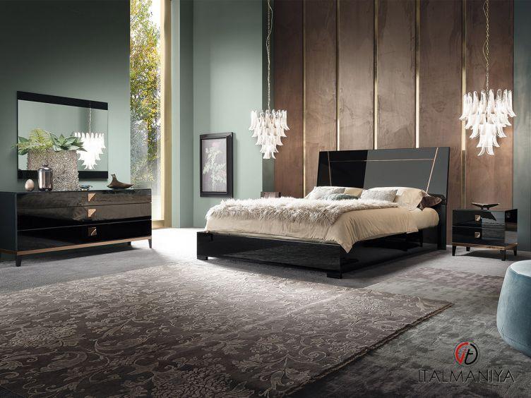 Фото 1 - Спальня Mont Noir фабрики Alf (производство Италия) в современном стиле из МДФ