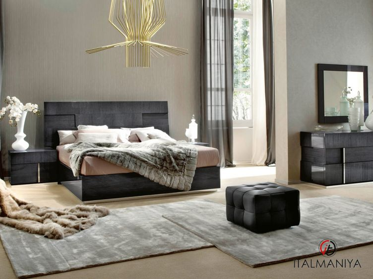 Фото 1 - Спальня Montecarlo 100992 фабрики Alf (производство Италия) в современном стиле из МДФ